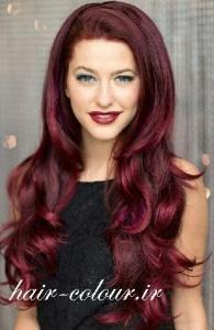 رنگ موی شرابی روشن
