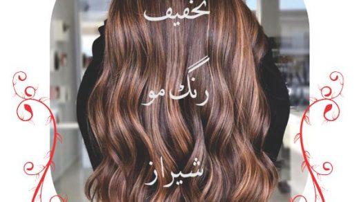 تخفیف رنگ مو شیراز